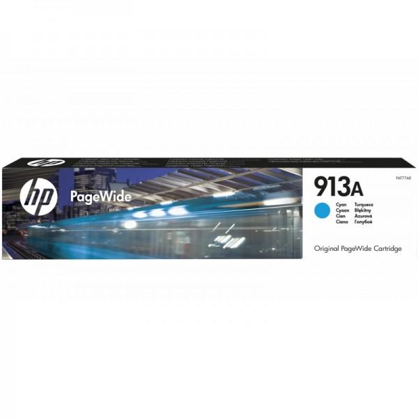 HP 913A Cyan - Cartouche PageWide HP d'origine (F6T77AE)